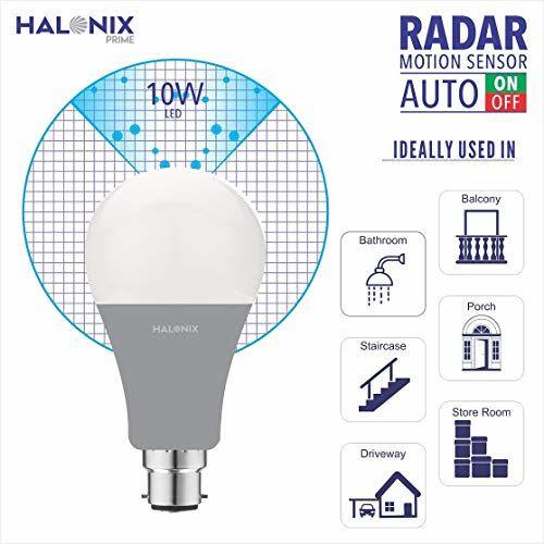 Halonix 10W Radar Motion sensor B22 LED Bulb (White)