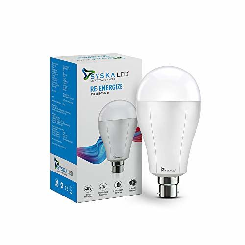 Syska Watt Rechargeable Emergency Led Bulb with Replaceable Battery