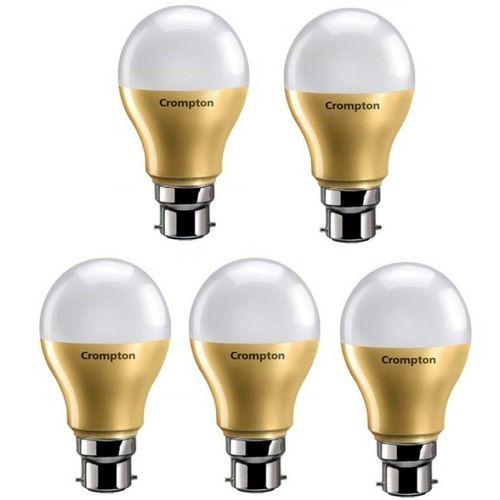 Crompton 9 W Round B22 LED Bulb(White, Pack of 5)