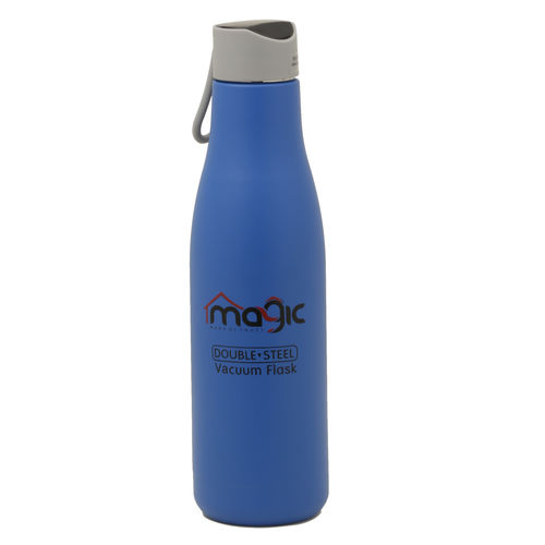 Magic Lifestyle Double Wall Vacuum Insulated Stainless Steel Sports Flask, BPA Free Thermos Travel Water Bottle 750 ml, Azure Blue Color