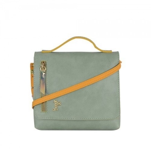 GG By Baggit Lp Day Wardy Mint Green Textured Large Sling Handbag