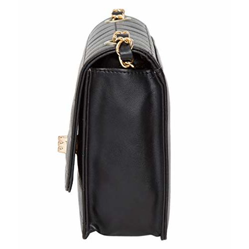 ADISA women girls party sling bag (Black)