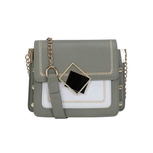 SATCHEL Bags grey leatherette (pu) regular sling bag