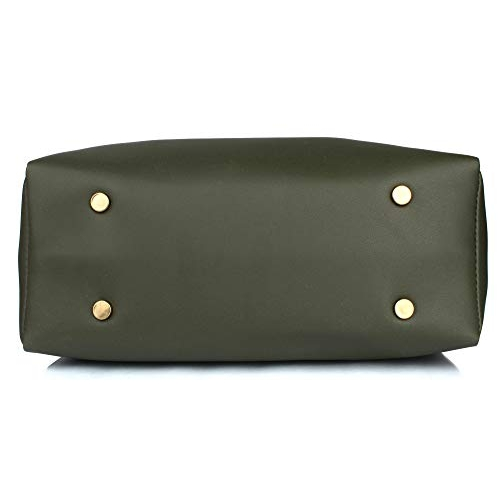 Mammon Green  Polyurethane Pompom Handbag Combo