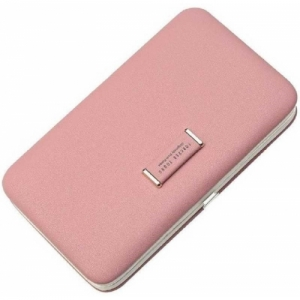 Banqlyn Pink Artificial Leather Wristband Wallet