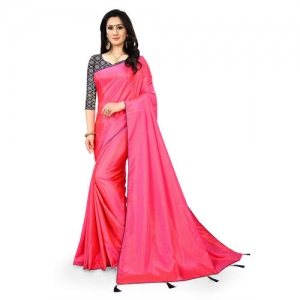 Meia Pink Silk Lace With Blouse Saree