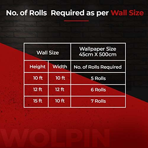 Wolpin Wall Stickers Wallpaper DIY Decals (45 x 500 cm) 3D PVC DIY Self Adhesive, Multicolour