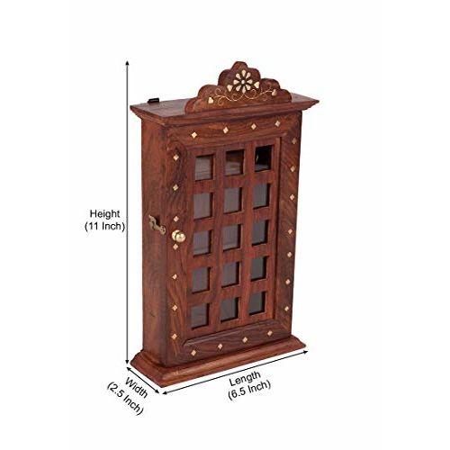 ADA Handicraft Sheesham Wooden Key Holder-Square Design