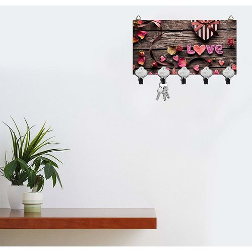 Molika Key Holder - Wall Mounted Key Holder/15 x 25 x .5 cm Multi Color Matte Finish Key Holders