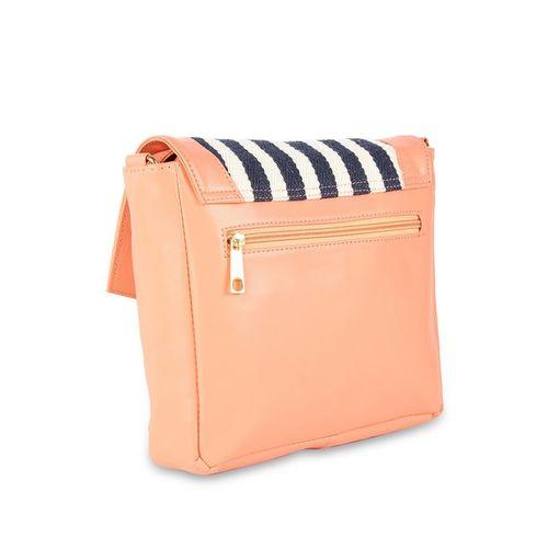 Kanvas Katha Multicolored Striped Sling Handbag