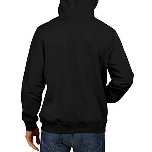 PrintBharat Black Cotton Solid Full Sleeve Hooded Hoodie