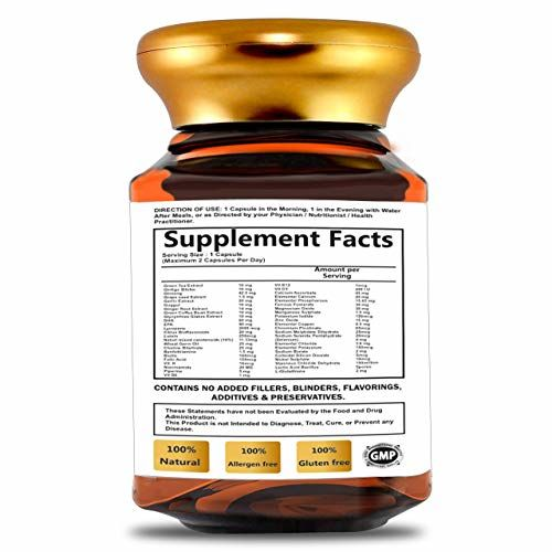 Mountainor Complete Multivitamins for Men and Women, Enriched with Natural Extracts, Minerals, Antioxidants, Probiotics, Nutrients, Blender and Amino Acid (90 Veg Caps)