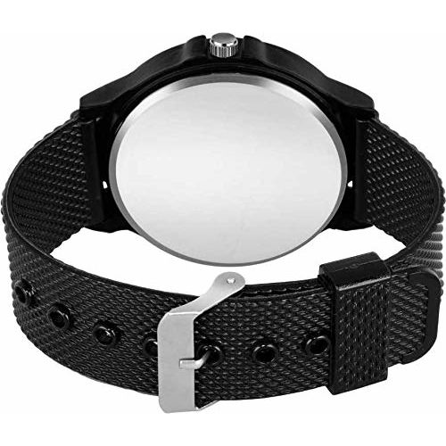 Mr. Brand Black Sports Unique Stylist Different Attractive Young Analog Watch - for Men (Black)