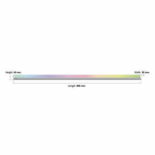 wipro 20W Smart LED Batten (16 Million Colors + Warm White/Neutral White/White) (Compatible with Amazon Alexa and Google Assistant) (DS22000)