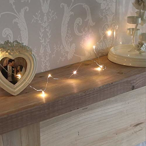 XERGY Battery Powered Copper Wire LED String Fairy Lights for Decoration, Diwali, Christmas Tree Decoration Lights Festival Rice Ferry Light - 10 Meter 100
