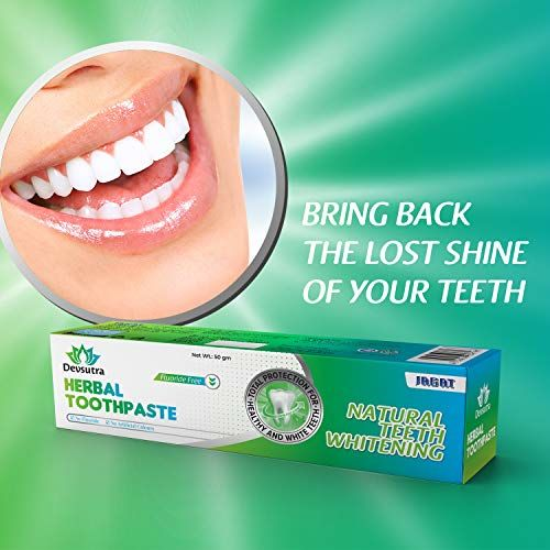 Jagat Devsutra Dr. Recommended Ayurvedic HERBAL Fresh Mint Flavour Toothpaste Combo Pack Offer - 100% Natural Teeth Whitening Formula with No Fluoride & No