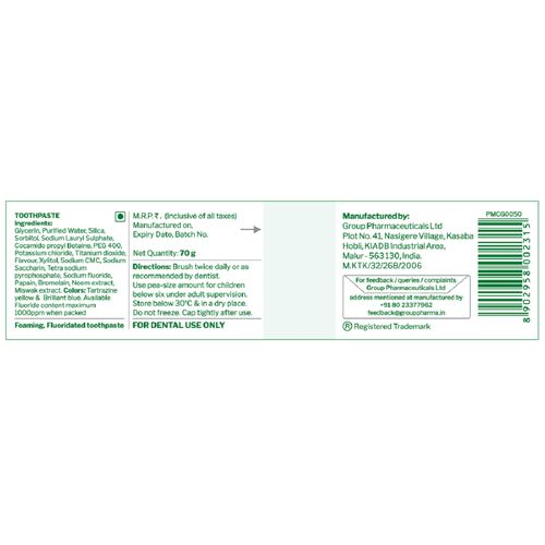 GLODENT - Natural Teeth Whitening Toothpaste 70gms (Set of 2 Packs)
