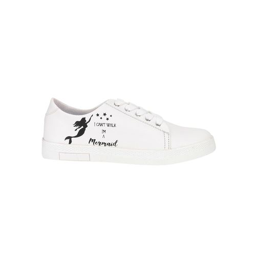 QUARKS white lace-up sneakers