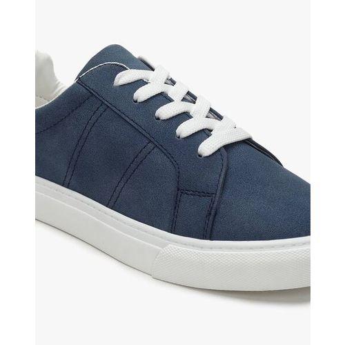 Uniquest Textured Mid-Top Lace-Up Shoes