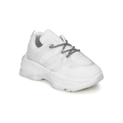 Truffle Collection white lace-up chunky sneakers