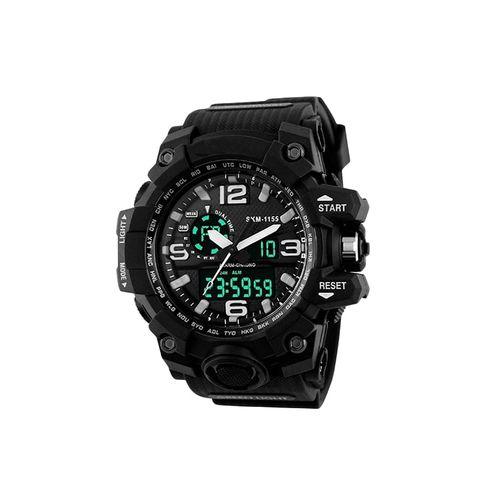 skmei 1155 round dial analog and digital watch