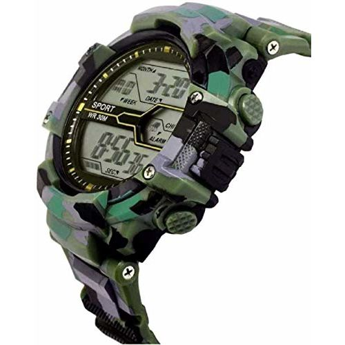 Driton Trending Army Design Green Digital Sporty Watch for Men's & Boy's