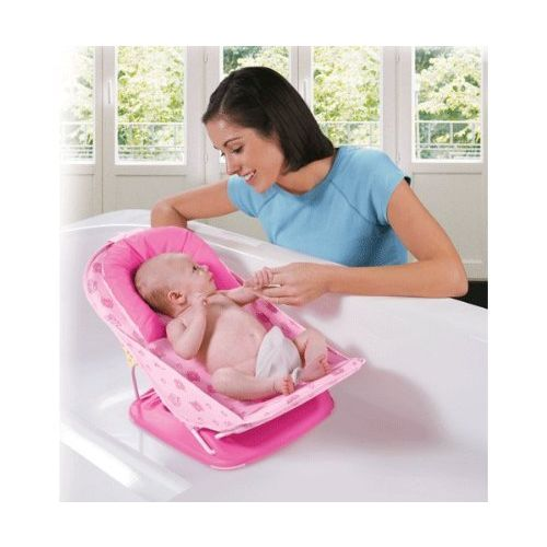 Toyboy Deluxe Baby Bather with Removable Head Support Cushion Infant Bath Aid Todler