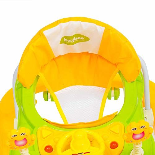 Baybee Smart Witty Baby Walker   Music & Light Function, Easy to Fold, Fun Toys & Activities for Baby (Yellow)