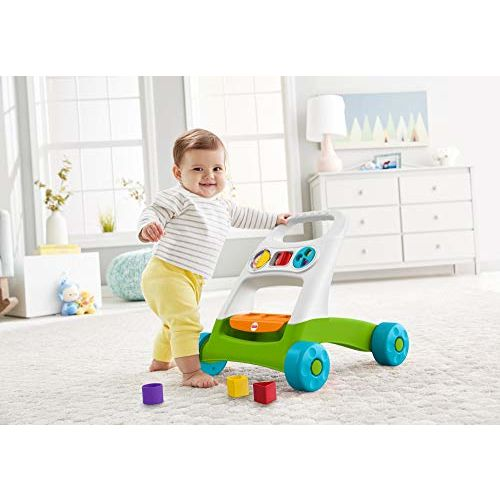 Fisher Price Busy Activity Walker with blcoks to sort and Store, for Sit-at Play and Walking Funin one!