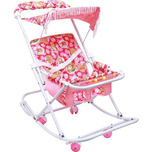 Maanit Baby cum Swing Graco Click Connect Double Stroller(Multi, Pink)