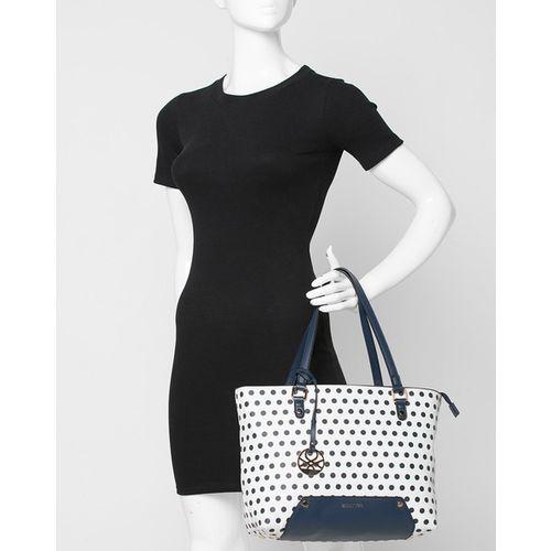 UNITED COLORS OF BENETTON Polka-Dot Print Tote Bag