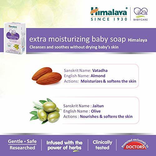 Himalaya Extra Moisturizing Baby Soap Pack of 6 x 125g