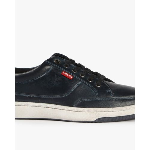 LEVIS Bamako Textured Lace-Up Sneakers