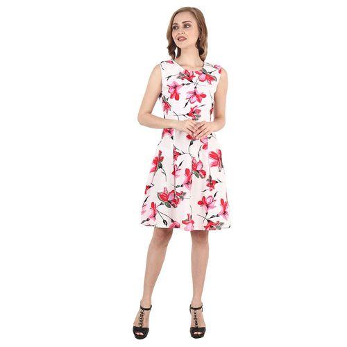 PRATYUSHA tie back floral dress