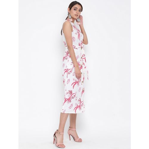 oxolloxo tie front floral a-line dress
