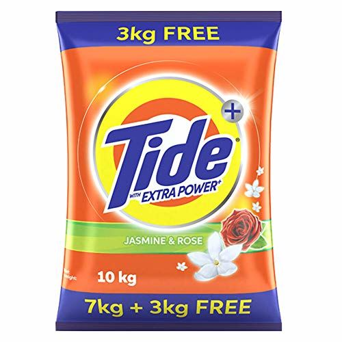 Tide Plus Extra Power Detergent Washing Powder - 7 kg (Jasmine and Rose) with Free Detergent Powder - 3 kg