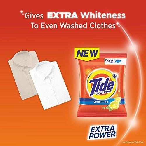 Tide Plus Extra Power Detergent Washing Powder - 6 kg (Lemon and Mint) with Free Detergent Powder - 2 kg