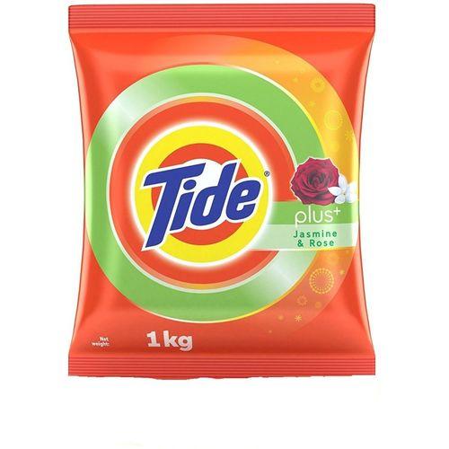 TIDE Plus with Extra Power Jasmine and Rose Detergent Washing Powder - 1 kg Detergent Powder 1 kg