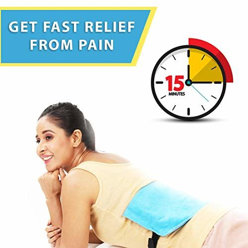 JSB H03 Heating Pad Electric for Pain Relief with Adjustable Belt (Regular)
