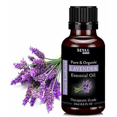 Seyal Lavender Essential Oil Pure & Organic Therapeutic Grade For Skin, Hair, Aroma (15ml)