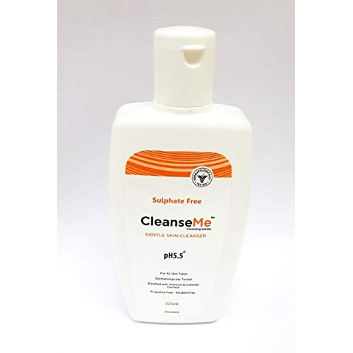 CleanseMe Gentle Skin Cleansing Lotion for All Types of Skin Enriched with Allantoin, Colloidal Oatmeal, pH 5.5 (125 Ml)