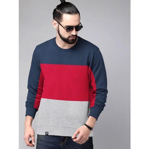 Jump Cuts Full Sleeve Color Block Men Sweatshirt