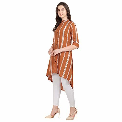 Serein Women's Crepe wrap Kurtas (SER-KURTI-A-100_Orange_X-Large)