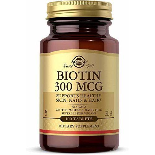 Solgar Biotin Tablets, 300 mcg, 100 Count