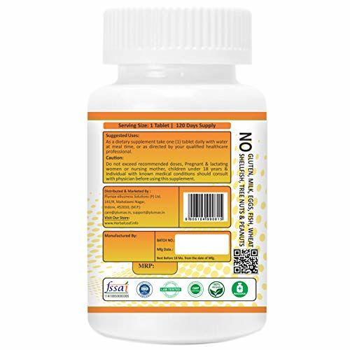 Herballeaf Vitamin D3 7000Iu with Vitamin K2 Mk7 100Mcg High Potency Supplement Supports Heart & Bone Health - 120 Veg Tablets