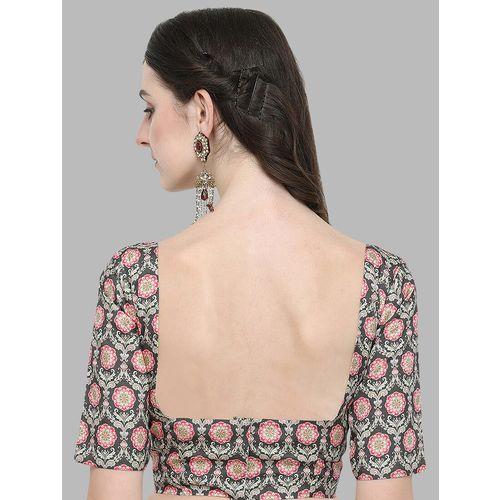 janasya ethnic motif printed blouse
