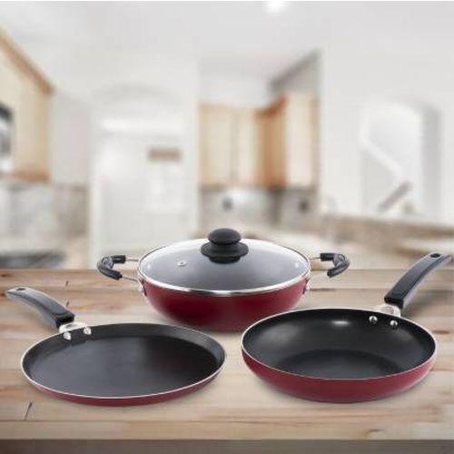 Flipkart SmartBuy Induction Bottom Cookware Set(Aluminium, 3 - Piece)