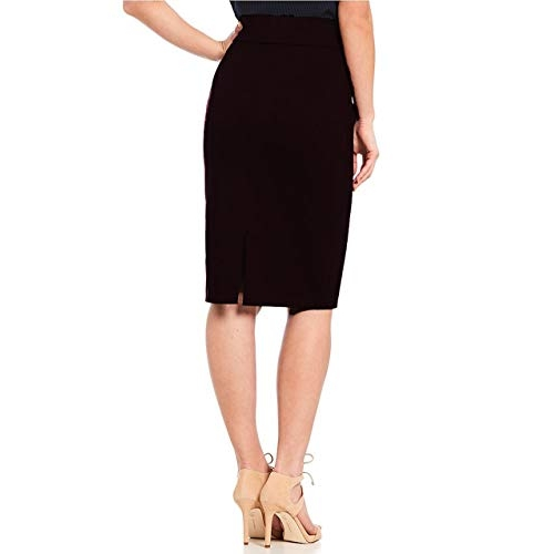 Stars and You Black Cotton Rayon Knee-Long Skirt