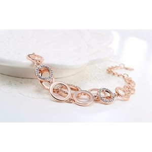 YouBella Rose Gold Plated Crystal Bracelet
