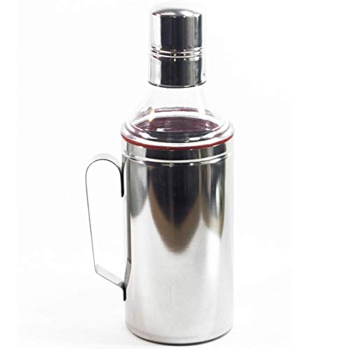 Human Hydro Stainless Steel Oil Dispenser/Pourer/Can for Kitchen with Handle, 1000 ML, Pack of 3